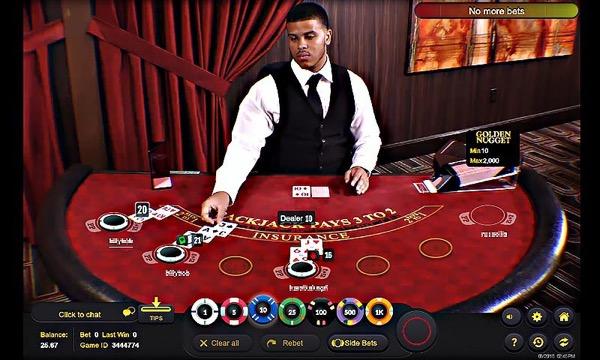 croupier en direct au blackjack